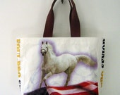 Recycled Horse Feed Bag Tote