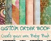 Reserved Listing for churchladytx - Custom Order Baby Book