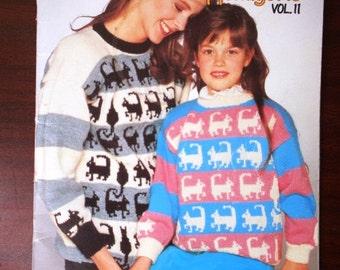 Knit Menagerie Vol.11 Patons No.499 Cats, Dragon, Bunny Rabbit, Cat, Panda, Elephants, Ducks, Pigs, Sheep