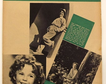 Vintage Magazine, 1930's Family Circle Magaine, Shirley Temple Collectible