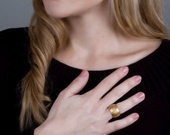 Wide Gold Ring, Wide Band Ring, Gold Chunky Ring, Unique Bold Ring, Rose Gold Ring, Boho Ring Silver, Statement Ring, Large Boho Ring Gold