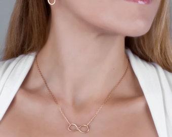 Rose Gold Stud Earrings, Infinity Stud Earrings, Rose Gold Infinity Earrings, Infinity Studs, Minimal Earrings, Delicate Gold Earrings