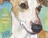 Whippet No. 2 - magnets coasters and art prints