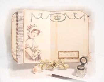 Jane Austen Journal, Bridal Shower Guestbook, Bridal Gift, Pride and Prejudice Diary, Graduation Gift, Wedding Planner