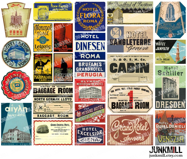 STEAMTRUNK MINIS I Digital Printable Collage Sheet Vintage