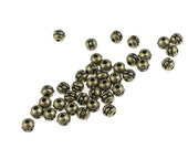 50 Antique Brass Beads 3mm 8/0 Beaded Seed Beads TierraCast Brass Oxide Spacers Heishi Beads Vintage Bronze (PS358)