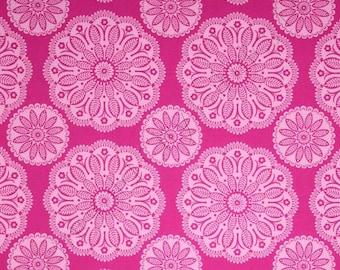 Kaleidoscope Pink Circles Tonal Michael Miller Fabric 1 yard