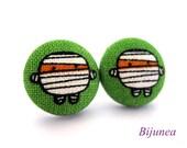 Mummy earrings - Halloween mummy stud earrings - Halloween mummy posts - Halloween mummy post earrings sf655