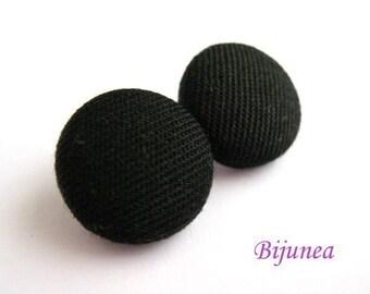 Black earrings- Black stud earrings - Black posts - Black studs - Black post earrings sf223