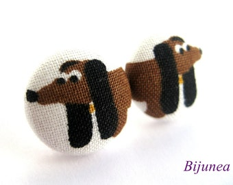 Dog earrings - Black dog earrings - Dog studs - Dog stud earrings - Dog posts - Dog post earrings sf797