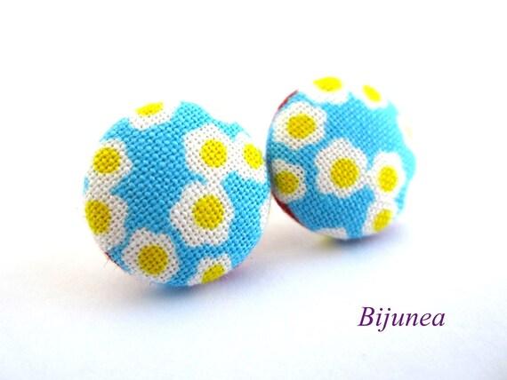 Flowers earrings - Blue flower stud earrings - Flower posts - Flower studs - Flower post earrings sf793