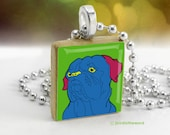 Andy Warhol style Dogue de Bordeaux Scrabble tile pendant charm