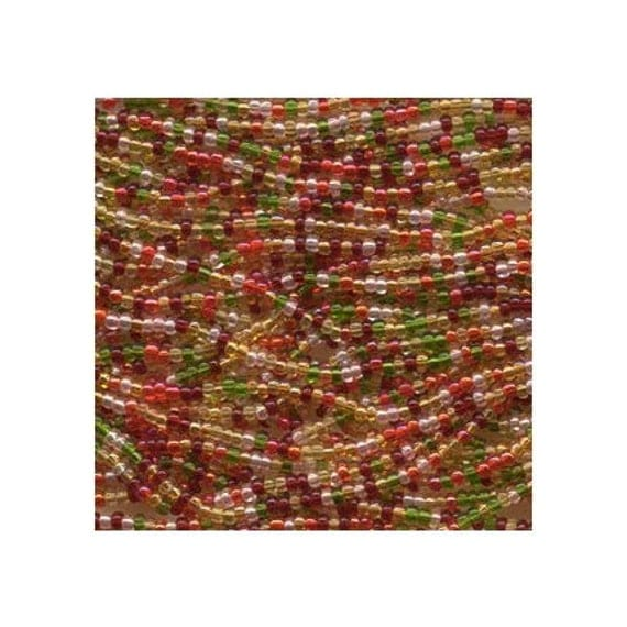 Czech Seed Beads 6/0 Tango Mixture 31619 (6 strand hank) 4mm Glass Seed Beads, Precoisa Beads, Round Seed Beads, Rocaille Bead