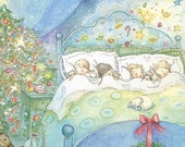 SugarPlum Dreams Christmas Card,  8 pack