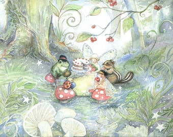 Woodland Tea Party 8 X 10 Print
