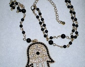 5 Decade HAMSA ROSARY Evil Eye Good Luck Charm Religious NECKLACE