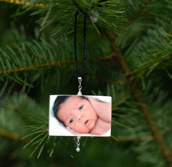 Custom Christmas Keepsake Photo Ornament - Small - O3Rec