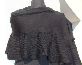 Black Shawl Merino Wool Wrap Woman Warm Shawl Mother's Day Birthsday gift