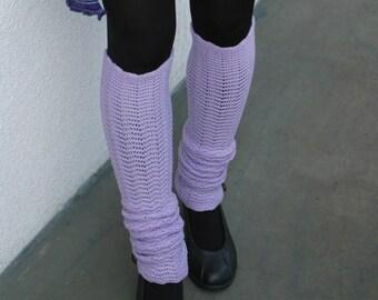 Lilac Leg Warmers Yoga socks jambieres merino legwear
