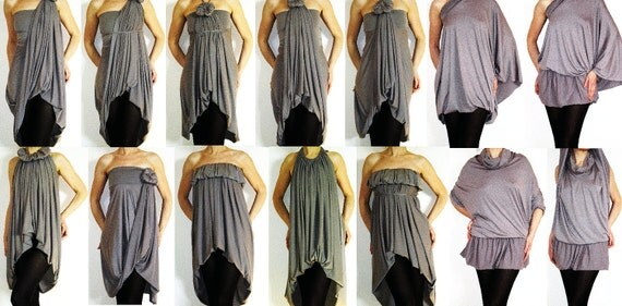 Convertible Wrap Infinity Multi - way dress or Tunic - more than 18 ways to wear, No.1