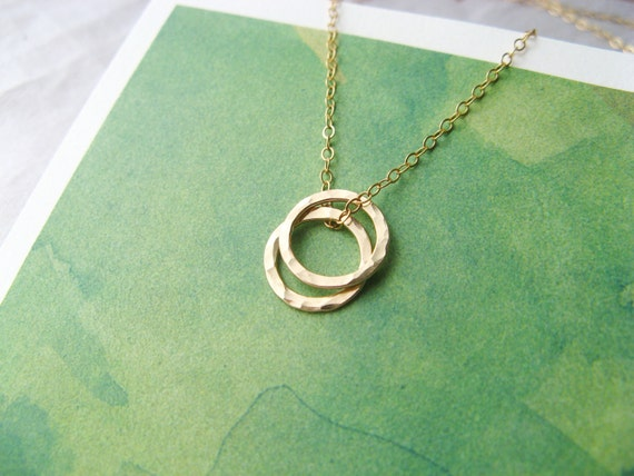 Reserved for Jennifer -SISTER NECKLACE in 14k GOLD Filled Chain and Circles Jewelry for Sisters Necklace for 2 or 3 Sisters