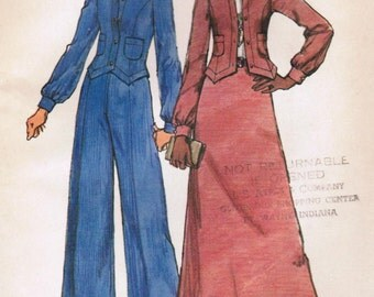 1970s Simplicity 5866 UNCUT Vintage Sewing Pattern Misses' Jacket, Skirt, and Pants Size 10 Bust 32-1/2