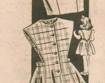 1950s Mail Order 8628 Vintage Sewing Pattern Girls' Jumper and Blouse Size 8