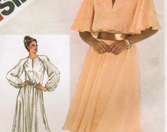 1980s Simplicity 5282 Vintage Sewing Pattern Misses' Pullover Party Dress, Evening Dress Size 14 Bust 36