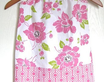 SALE Girl Clothing - Pillowcase Dress - Girl Dress in Pink Dolce Flowers 15% OFF