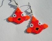Cutest Fish Seed Beaded Dangle Earrings