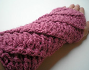 Fingerless Gloves Armwarmers Spiral Arm warmers Womens Fingerless Gloves Pink Gloves Warm Texting Gloves Mothers Day- MADE TO ORDER