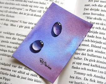 Water Drops - Purple Droplets an Original Watercolor Painting ACEO