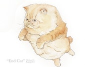 End Cat | Print of Original Illustration | Ink & Watercolor