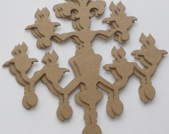 CHANDELIER -  Chipboard Die Cut - French Vintage Craft Shapes
