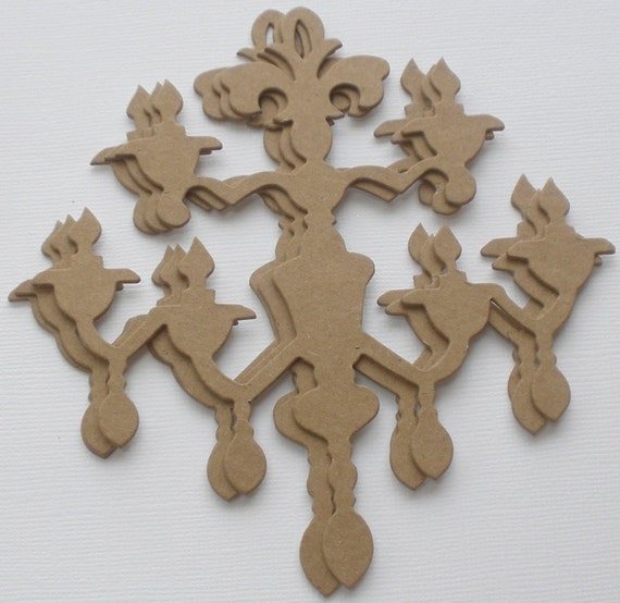 Items similar to chandelier chipboard die cut french