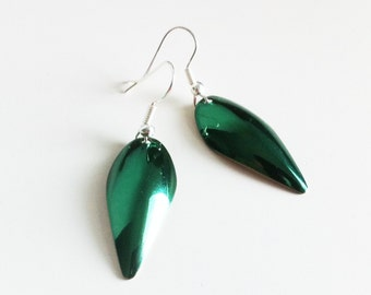 Green Chrome Earrings