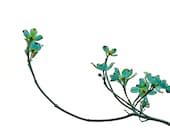Blue Minimalist Blossoms Dogwood Botanical Flower Decor Cottage Chic