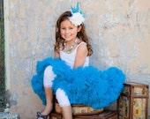 Deep Turquoise Blue- Nylon Chiffon Pettiskirt by Dreamspun -