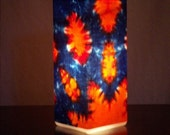 Tie Dye Light, Orange Sunset Accent Lamp, Table Lamp