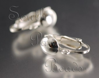 Sterling Silver Clip on earrings (1 pair)