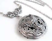 Silver Scent Locket - The Green Man