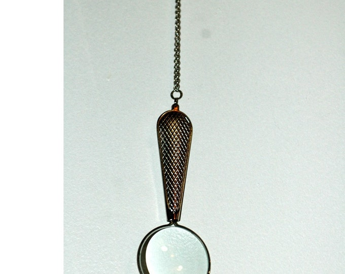 Magnifying Glass Necklace Gift for Grandpa Ready to Ship
