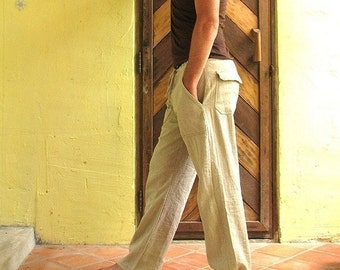 Men's 100 percent hemp pants...(1434)