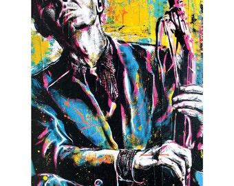 Woody Guthrie - I Ain't Got No Home - 12 x 18 High Quality Pop Art Print