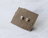 RESERVED for Shamel73 One replacement Mini Pyramid Stud post Earring in Sterling Silver
