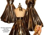 The 24 karat LIQUID GOLD Ultimate Bombshell Pin-Up Halter Dress...