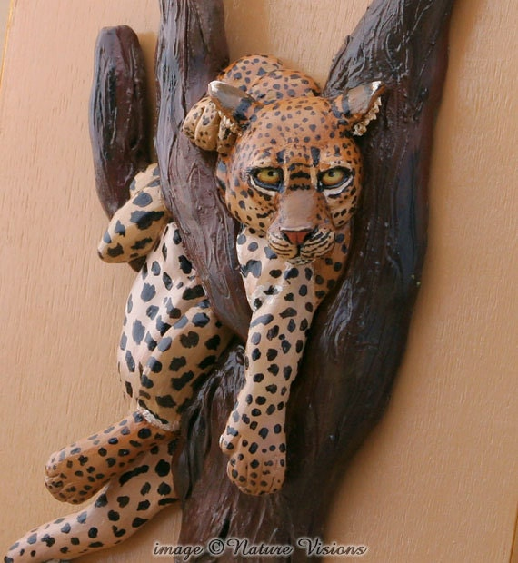 Items Similar To Leopard Art Jewelry Box Polymer Clay