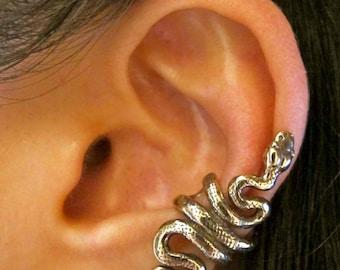 Snake Ear Cuff Bronze Snake Ear Wrap Snake Earring Snake Jewelry Serpent Jewelry Non-Pierced Earring Snake Art Snake Fashion Ear Jacket