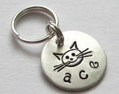Personalized Cat Tag - Itty Bitty Kitty handstamped pet tag