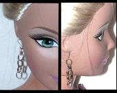 Vintage Earrings - Chain Link Earrings- Drop Dangle Earrings - Silver Wire Hook